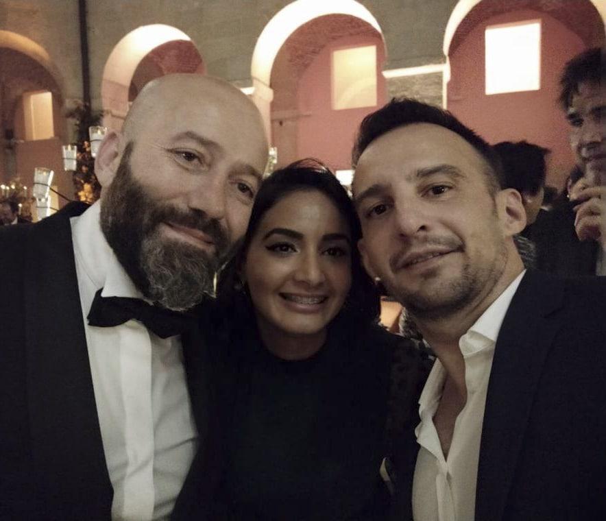 Doctor Charani y Alejandro Amenábar en los novenos premios Telva